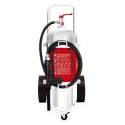 Τροχήλατος Πυροσβεστήρας 25Kg Ξηράς Σκόνης INOX