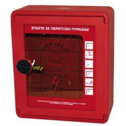 Πλαστική Πυροσβεστική Φωλιά (PVC) με Πόρτα Διαφανή